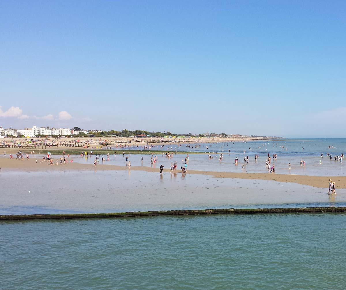 Littlehampton beach - day trip from London