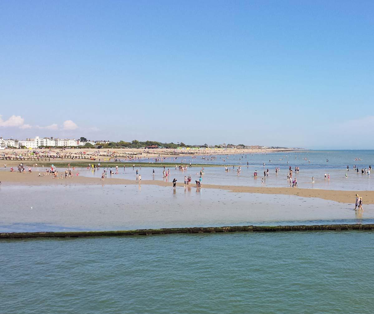 Littlehampton beach - day trip from London
