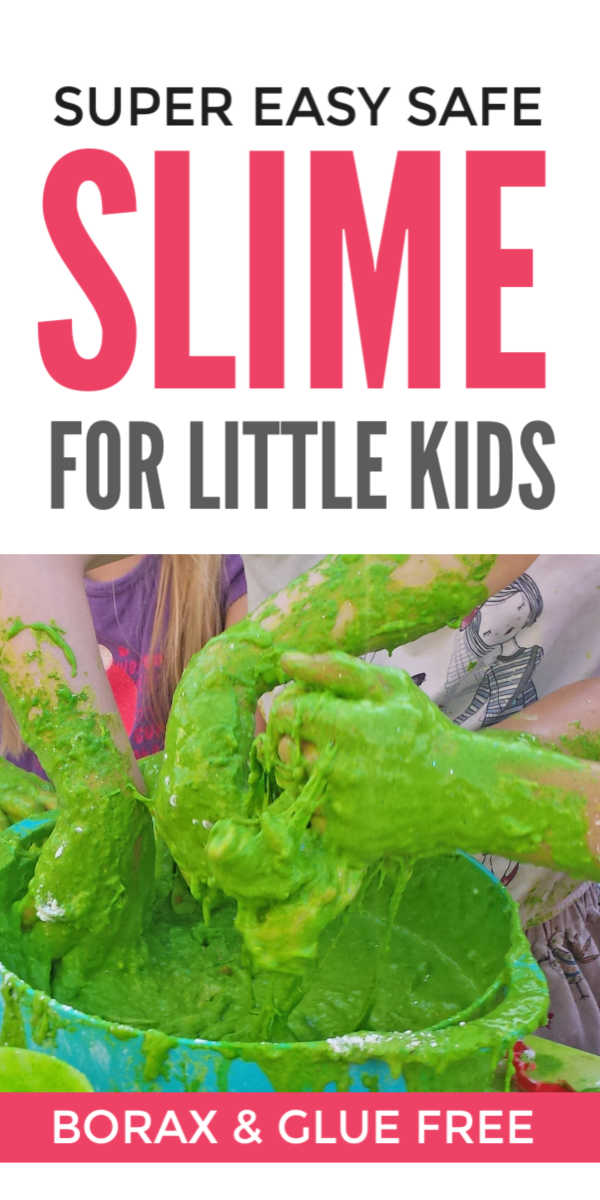 Easy edible slime for kids without borax, glue or shampoo - this super simple DIY slime recipe is safe for even very young kids who can make it themselves #slime #slimerecipe #playdough #playdoughrecipe #toddleractivities #preschoolactivities #kidsactivities #activitiesforkids #preschoolers