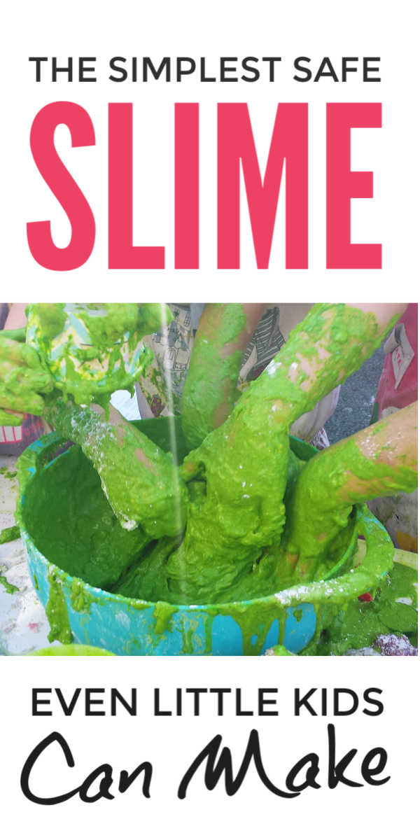 How to make easy edible slime without borax and without glue with just 2 household ingredients - simple and safe for little kids to make themself #slime #slimerecipe #playdough #playdoughrecipe #toddleractivities #preschoolactivities #kidsactivities #activitiesforkids #preschoolers