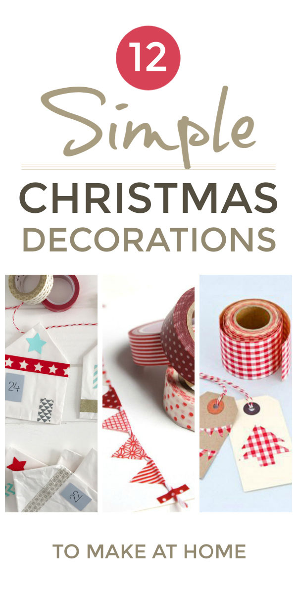Christmas decorations - traditional DIY homemade Christmas decorations for the home to make yourself and with kids. A wide range of vintage and Scandinavian inspired Christmas decoration crafts and ideas including Christmas card trees, Christmas cards plus Advent Calendars Christmas gift wrap and Christmas gift tags. All made with wash tape #christmas #christmascrafts #christmasdecorations #christmasideas #washitape #scandinavian #christmas #adventcalendar