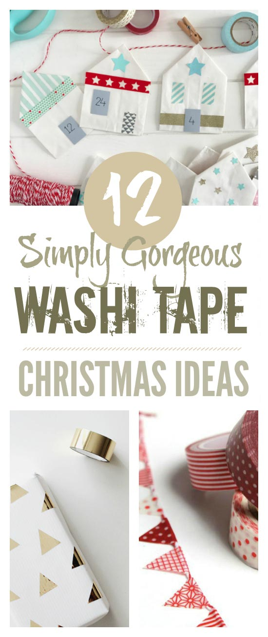 Washi tape Christmas ideas - simply gorgeous ideas for decorating with washi tape #Christmas #washitape