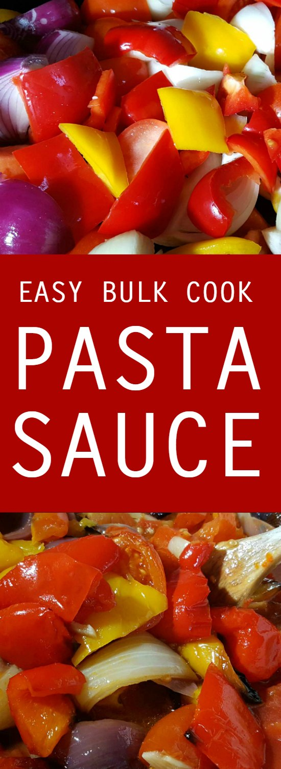 bulk cook pasta sauce - the easiest ever pasta sauce to bulk cook for the freezer