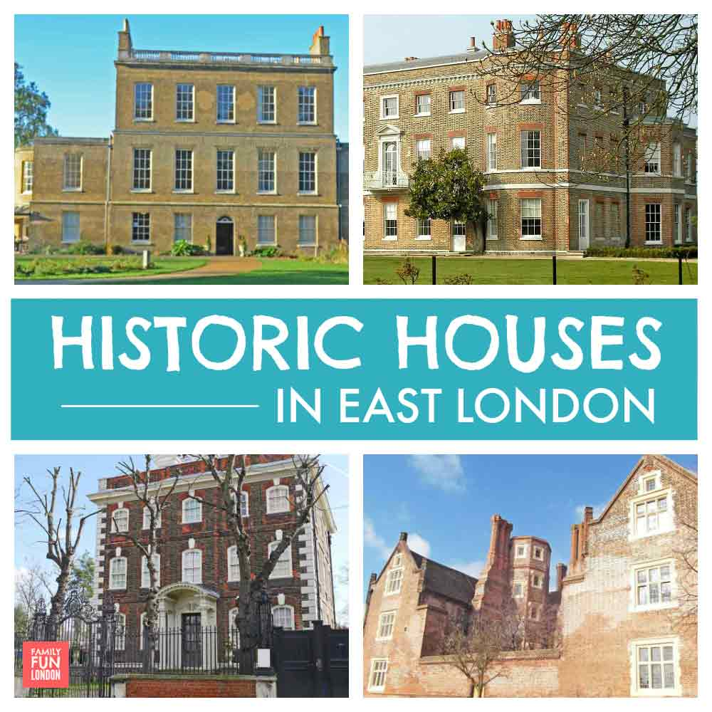 East London historic houses with gardens and parks kids can run around in