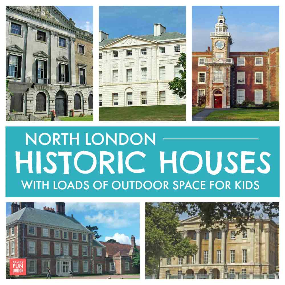 Historic houses in north London with loads of outdoor space for kids to run around in
