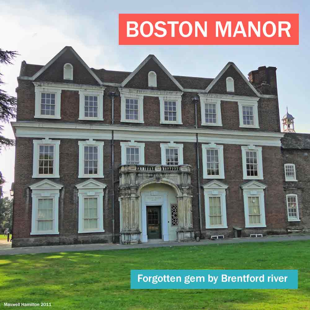 Boston Manor is a forgotten gem of a historic house. A Jacobean mansion by the Brentford river in west London.