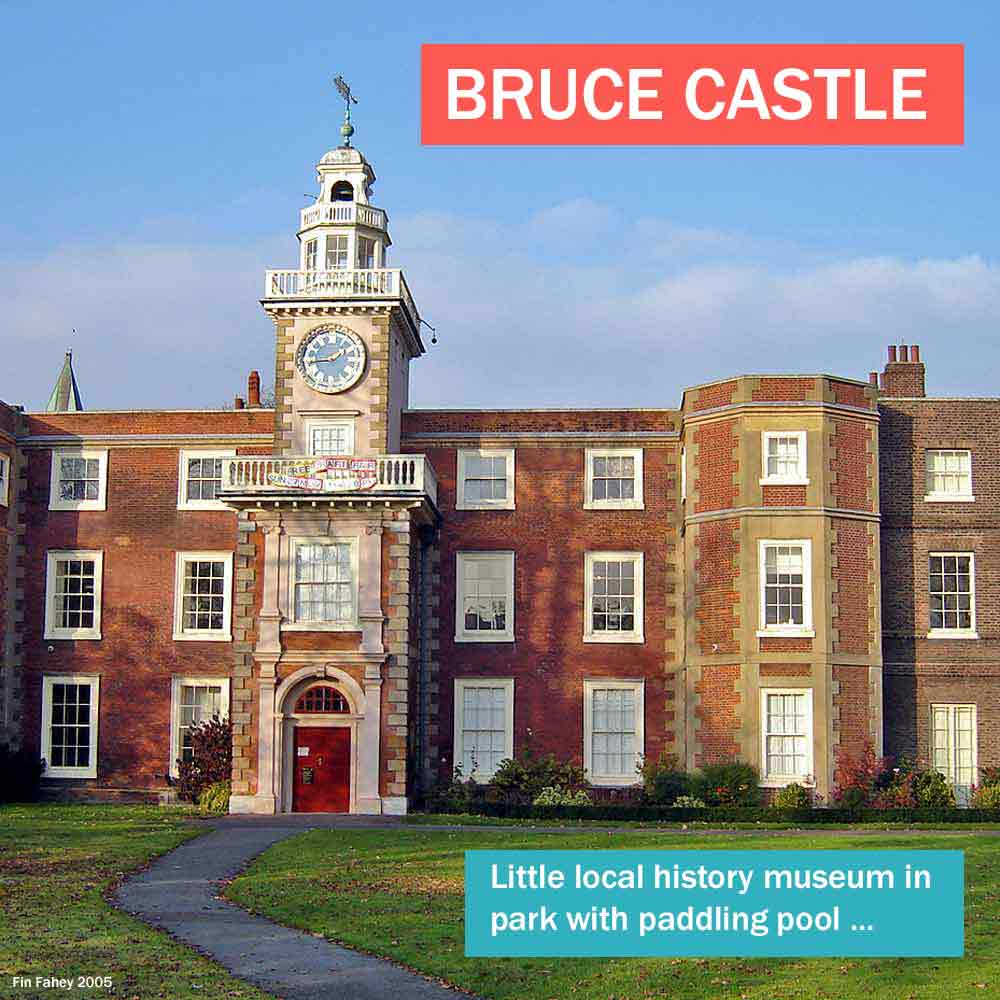 Bruce Castle - local museum in historic north London house in a local park with paddling pool