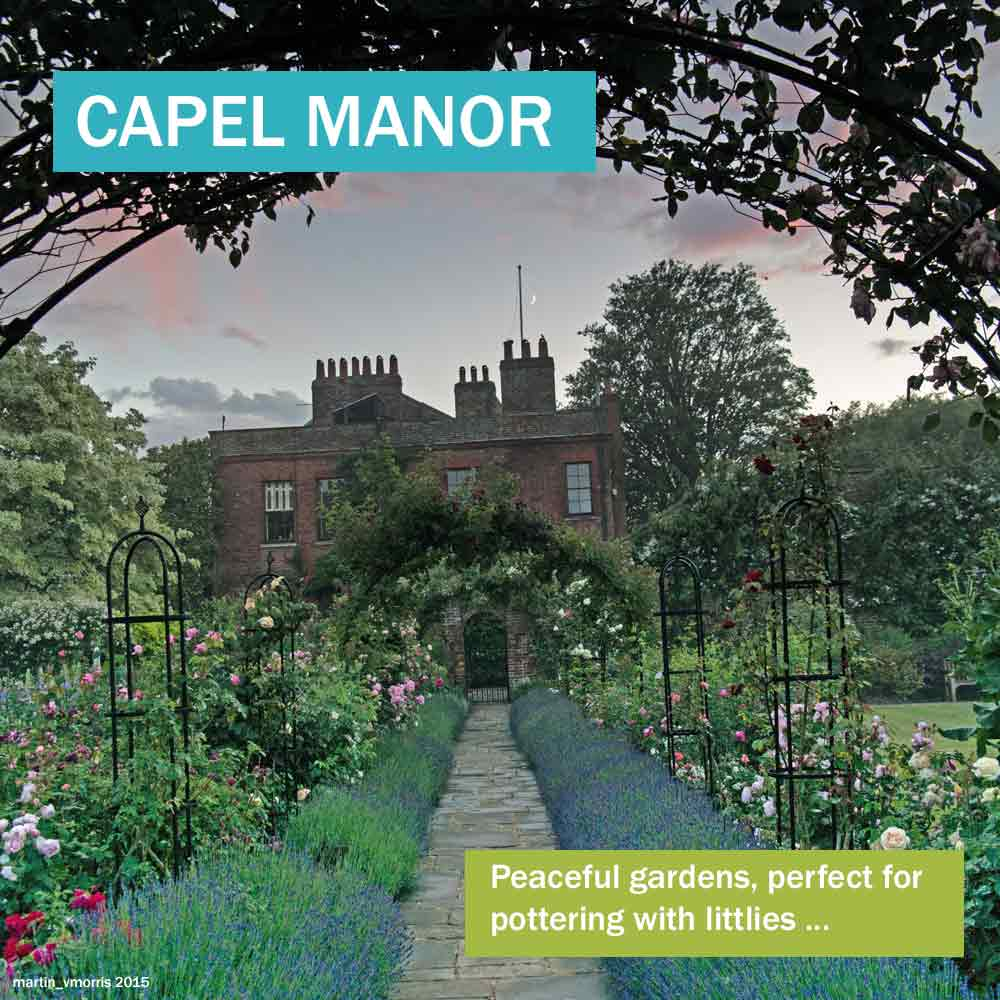 Capel Manor - historic house in north London with peaceful gardnes perfect for pottering with littlies
