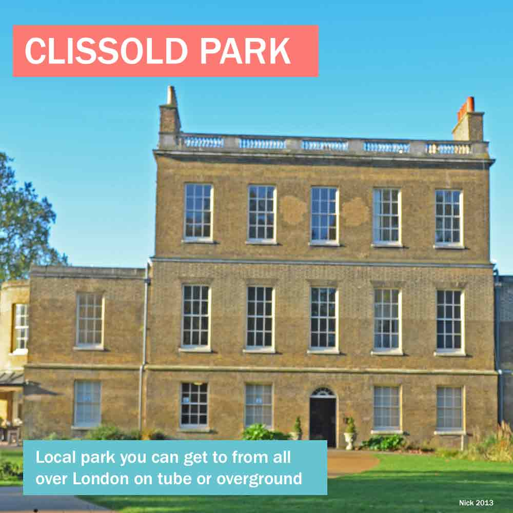 Clissold Park - historic house in popular local park you can easily get to on public transport from all over London