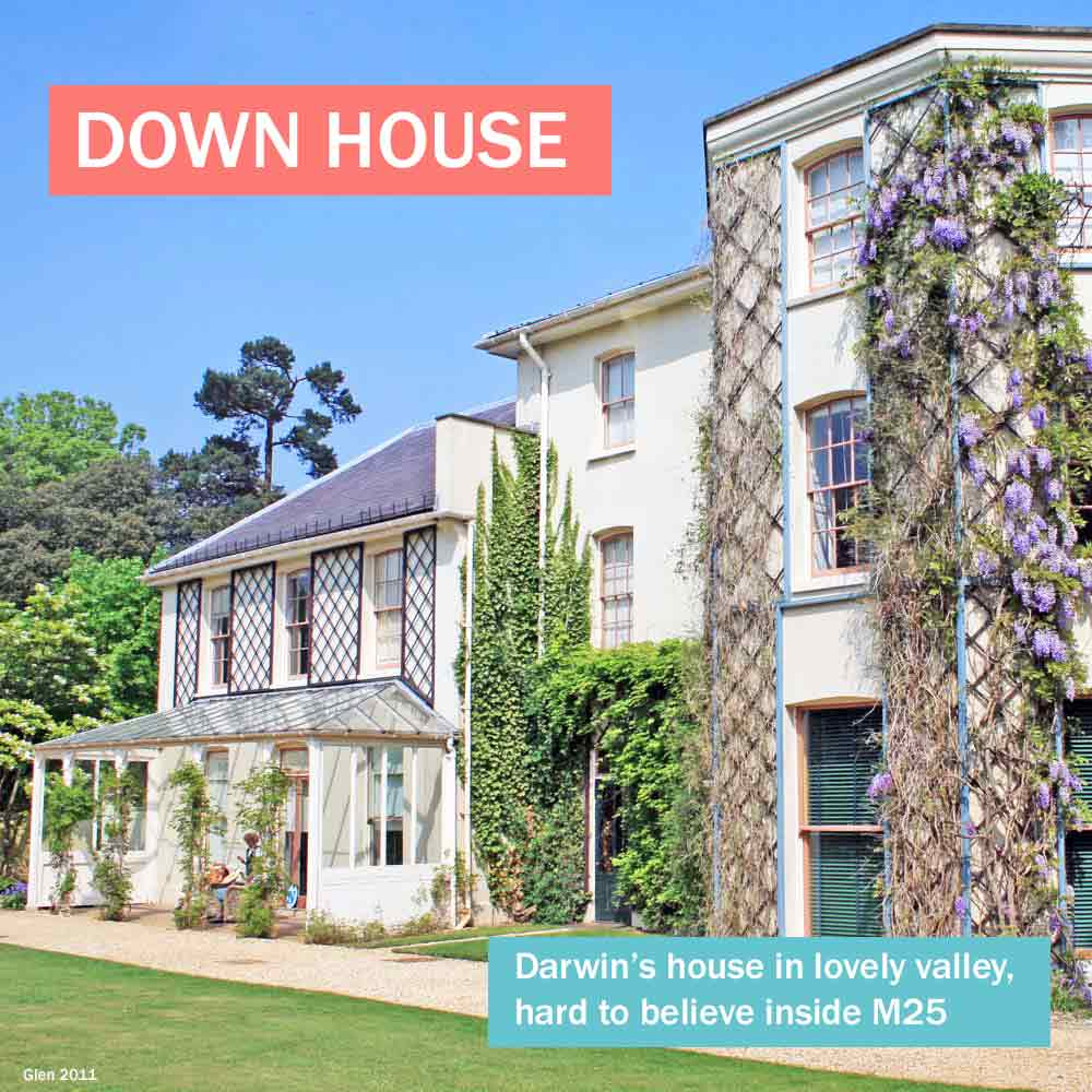 Down House - Charles Darwin's house in lovely valley, hard to believe in London
