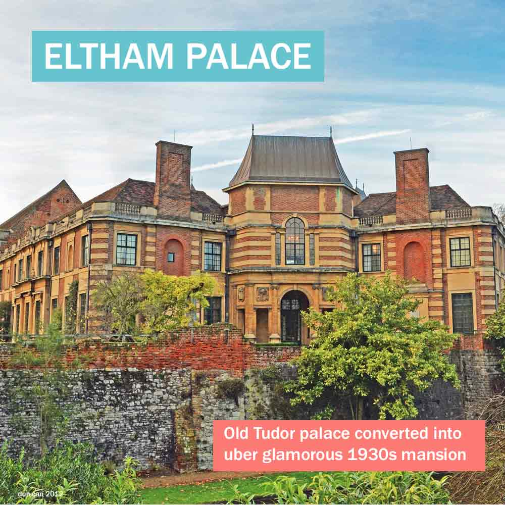 Eltham Palace - a Tudor palace converted into an uber glamorous 1930s mansion