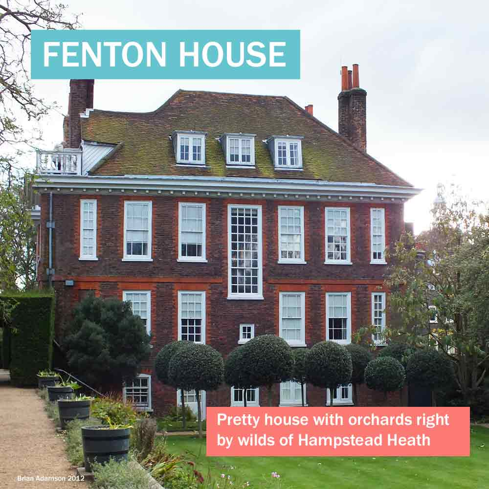Fenton House - pretty historic house with orchards right by wilds of Hampstead Heath