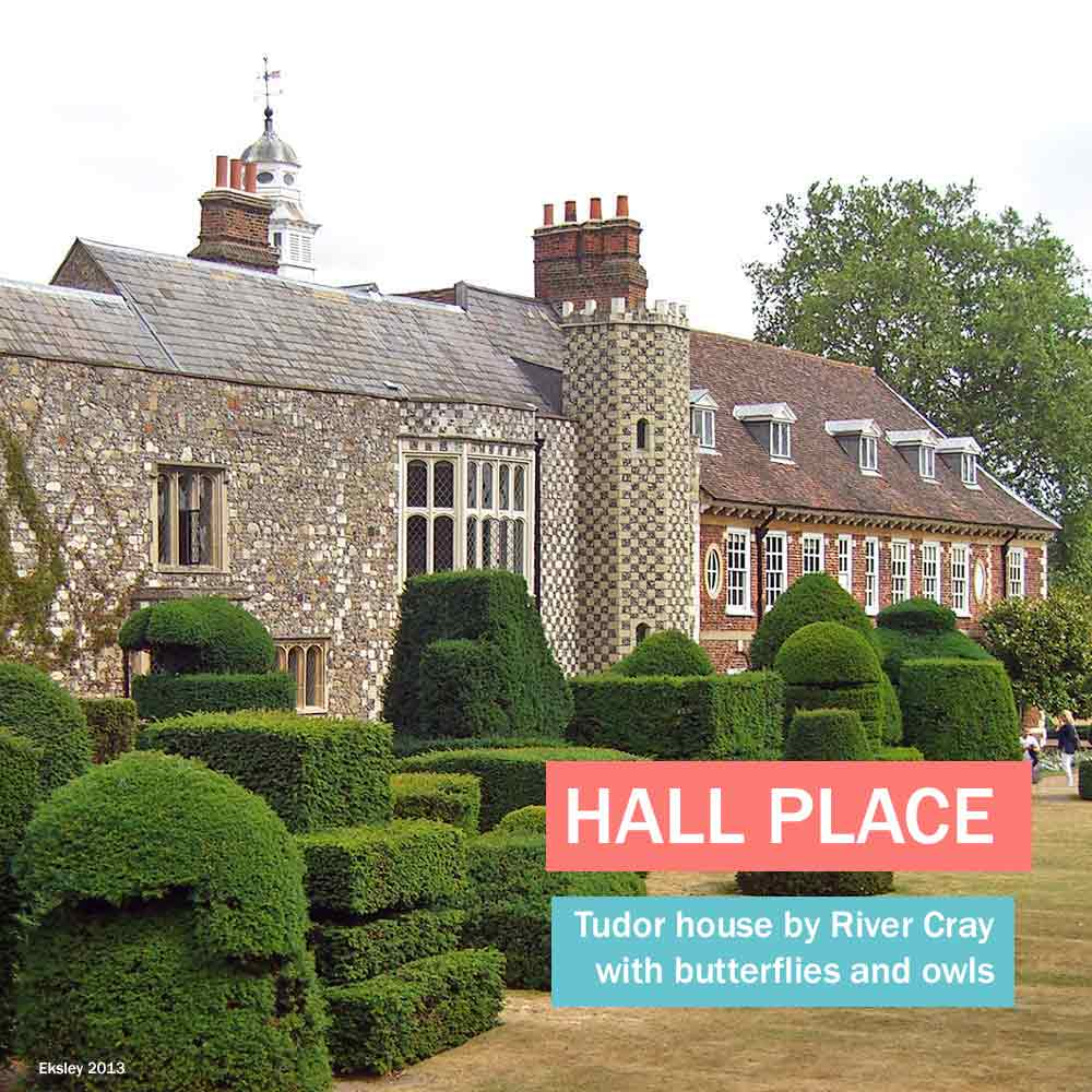 Hall Place - Tudor house by the river Cray in south London with owlery and butterfly house