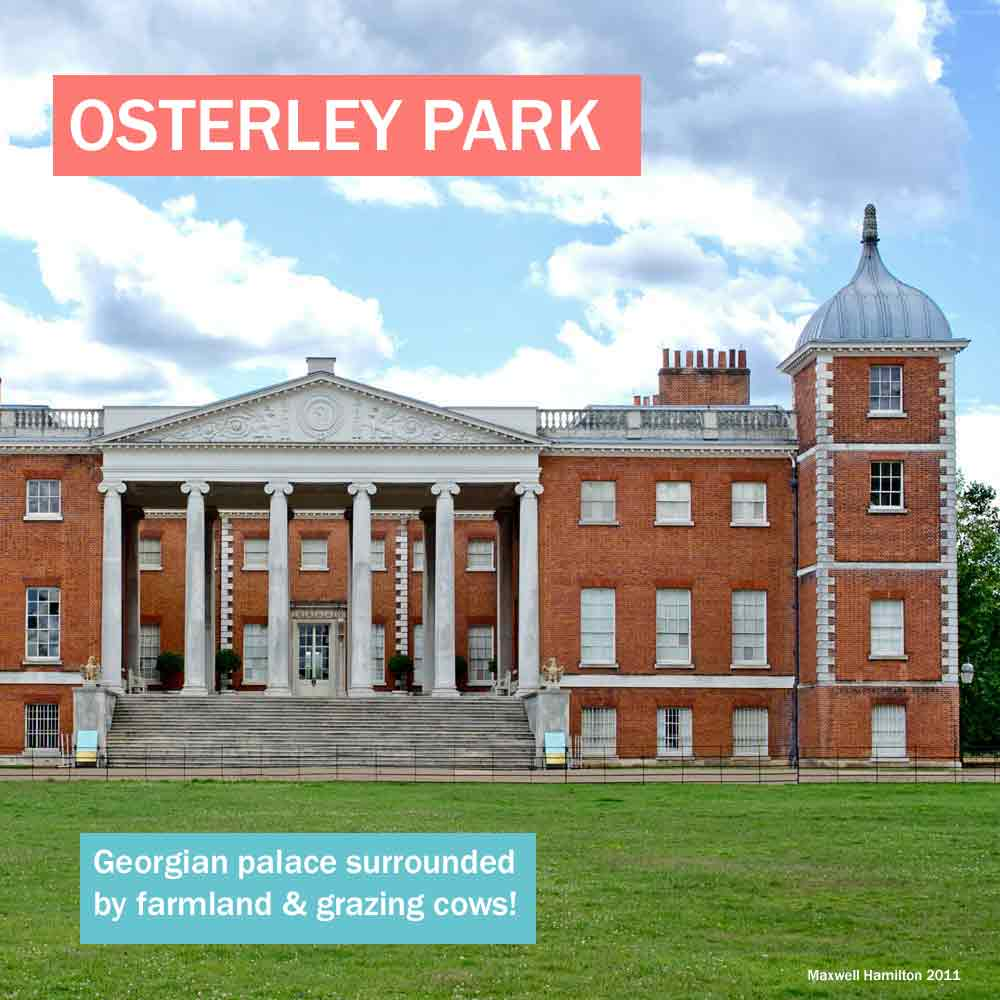 Osterley Park - Georgian palace surrounded by farmland and grazing cows in west London
