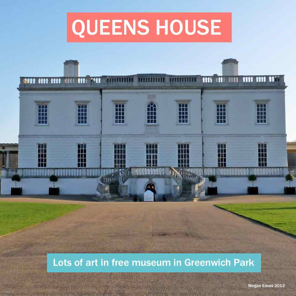 Queens House - free to visit, historic south London house with lots of art in Greenwich Park
