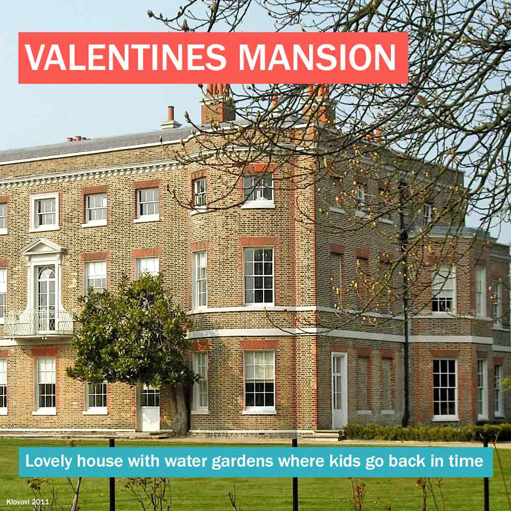 Valentines Mansion - east London historic house with water gardens where kids can go back in time