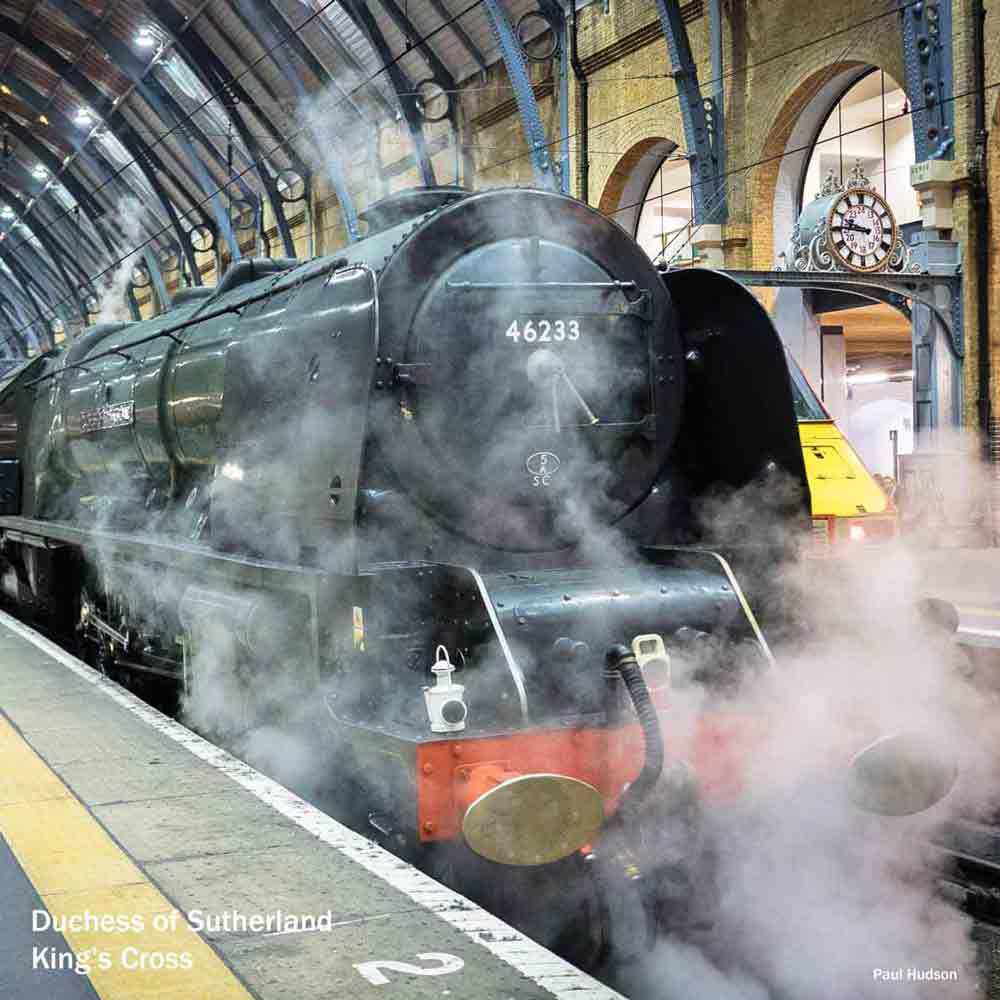London steam trains - Duchess of Sutherland at Kings Cross