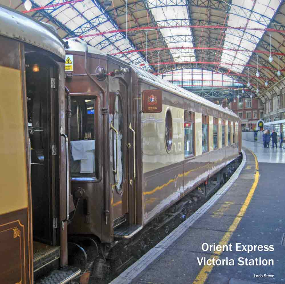 London steam trains - Orient Express at Victoria