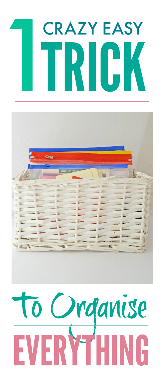 1 crazy easy trick to organize everything