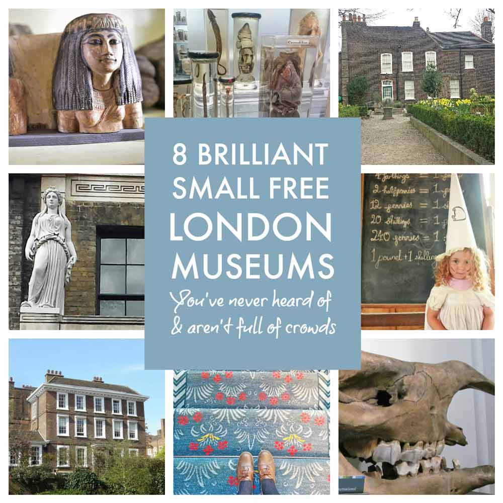 Small free London museums - brilliant small free London museums that you've probably never heard of and which aren't full of crowds