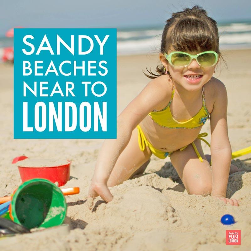 Sandy beaches near London