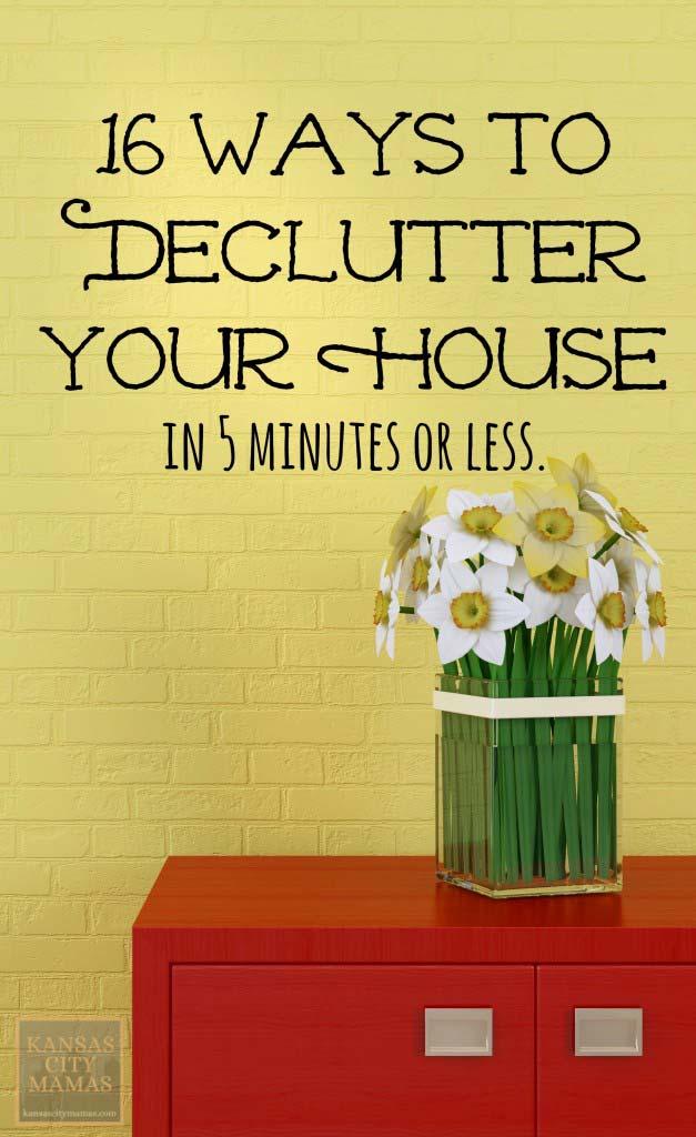 Simple declutter tips