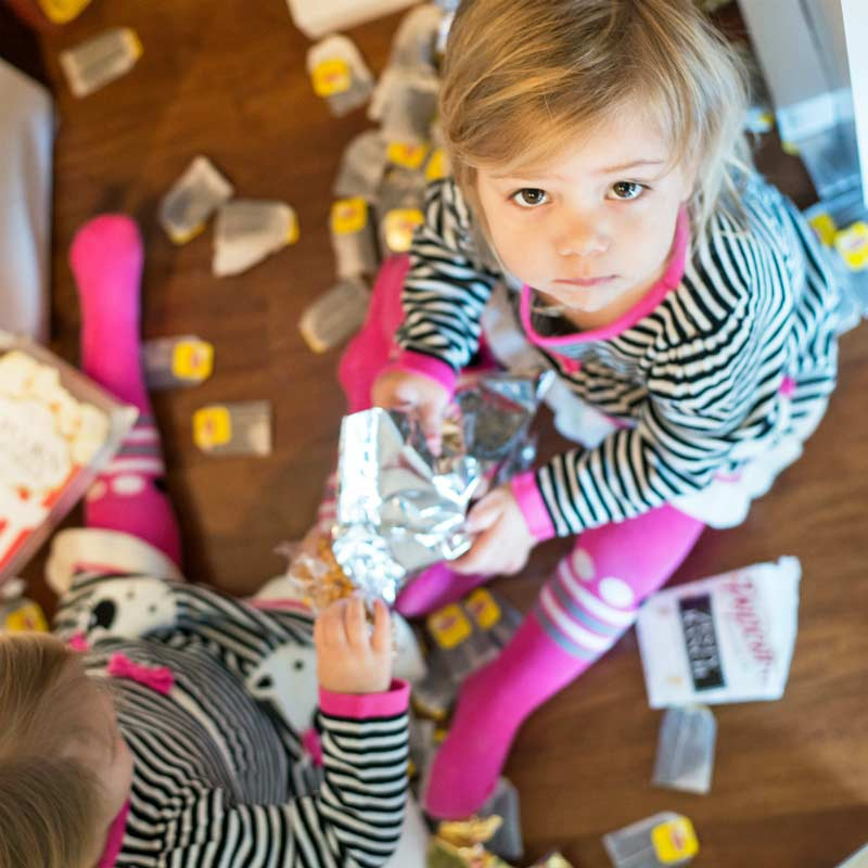 Blitz mess fast and get the whole family to help