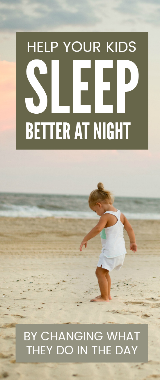 Most sleep tips for kids are about bedtime routines and helping children get to sleep at night BUT it is actually what we do during the day that has the most impact on sleep for infants and parents #sleep #sleeptips #bedtime #parenting #kids