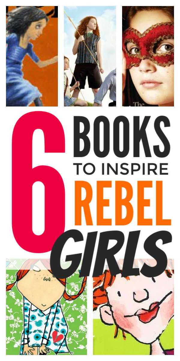 Kids books list - inspiring rebel girls characters in children's literature including classic books and new kids book series. Includes first chapter books ideas for early and reluctant readers and middle school and junior school readers #kidsbooks #kidslit #rebelgirls #booknerd #booklists #booklover #childrensliterature #earlyreaders #chapterbooks
