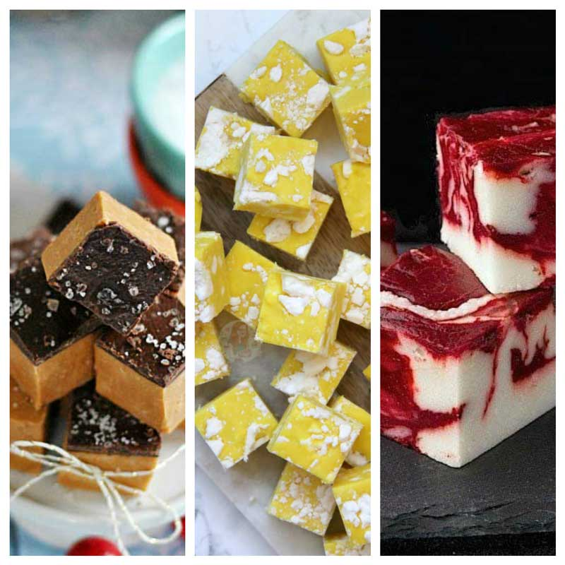 The best easy homemade Christmas fudge and Christmas toffee recipes and ideas that make lovely Christmas gifts including peanut butter fudge, white fudge, marshmallow fudge and 3 ingredient fudge you can make in the slow cooker or microwave #christmas #christmasfudge #fudge #christmasideas #christmasfood #christmasbaking #peanutbutter