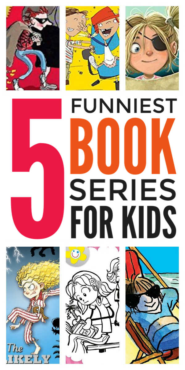 Funny book series for kids - laugh out loud chapter books series for children including early readers and middle school and junior school kids. This book list will hook even reluctant and struggling readers #booklist #kidsbooks #childrensliterature #bookreviews #reading #earlyreaders #reluctantreaders #strugglingreaders