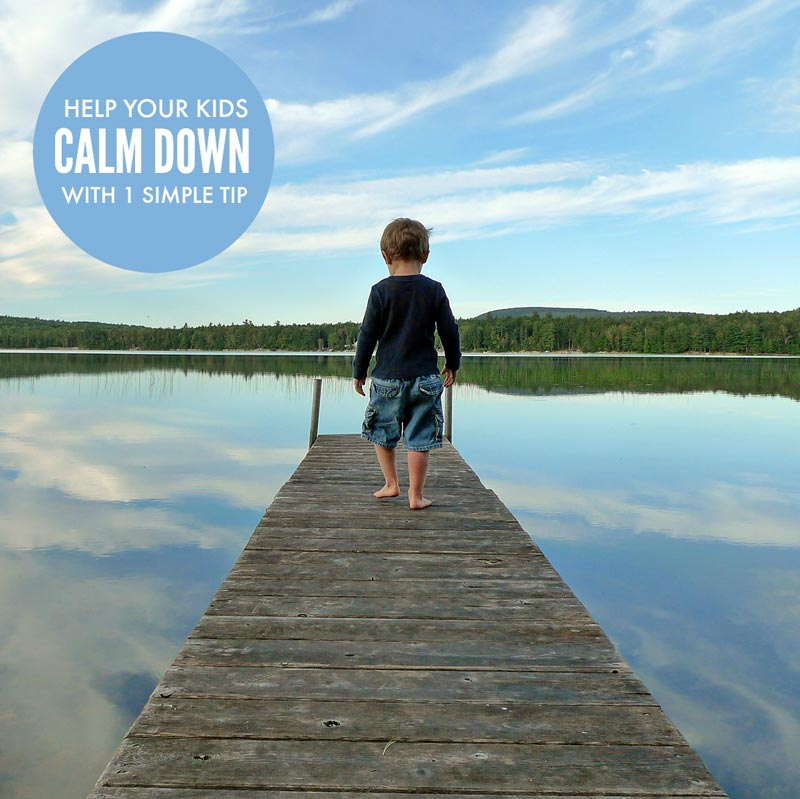 Help kids calm down with one simple tip