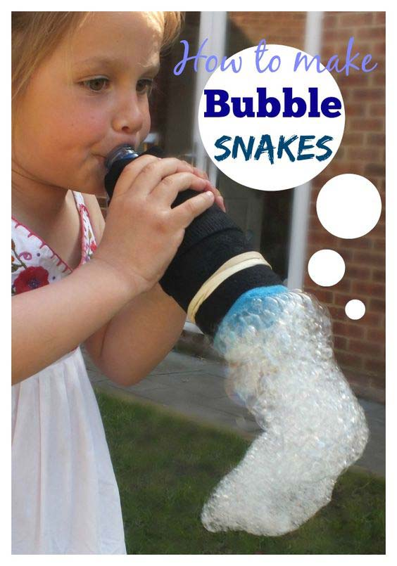 Summer hacks - bubble snakes