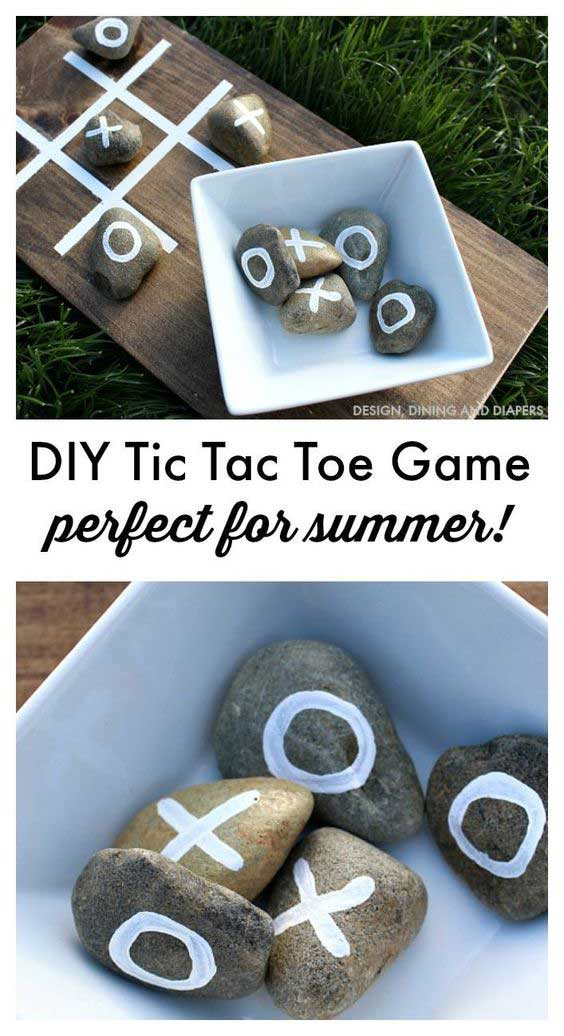Summer hacks - DIY Tick Tac Toe
