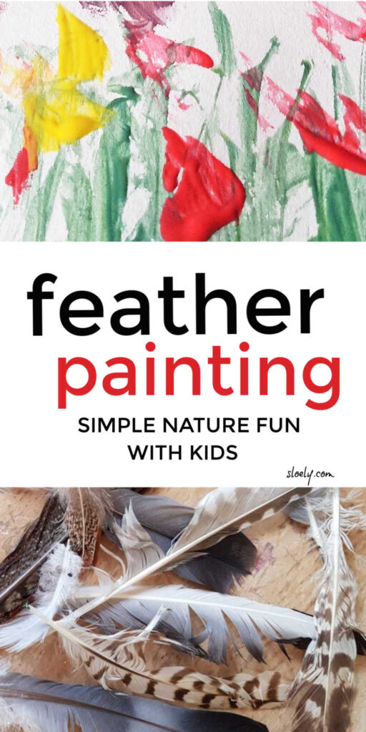 Feather Painting With Kids