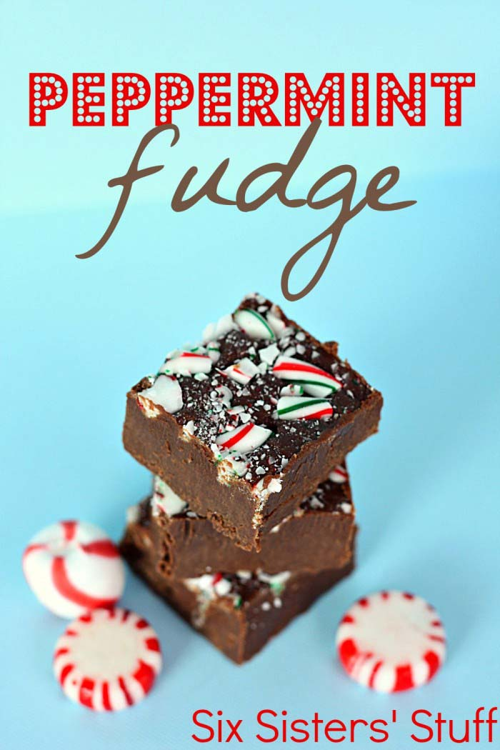 Peppermint Christmas fudge