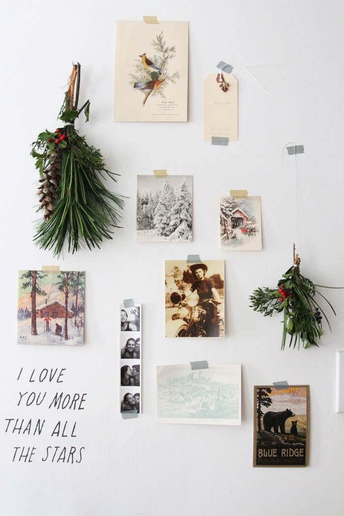 Christmas decoration - a simple homemade Scandinavian style Christmas display with traditional fir and silver and gold washi tape for a modern twist #christmasdecoration #simplechristmas #washitape #Christmasideas #Scandinavian #christmasstyle
