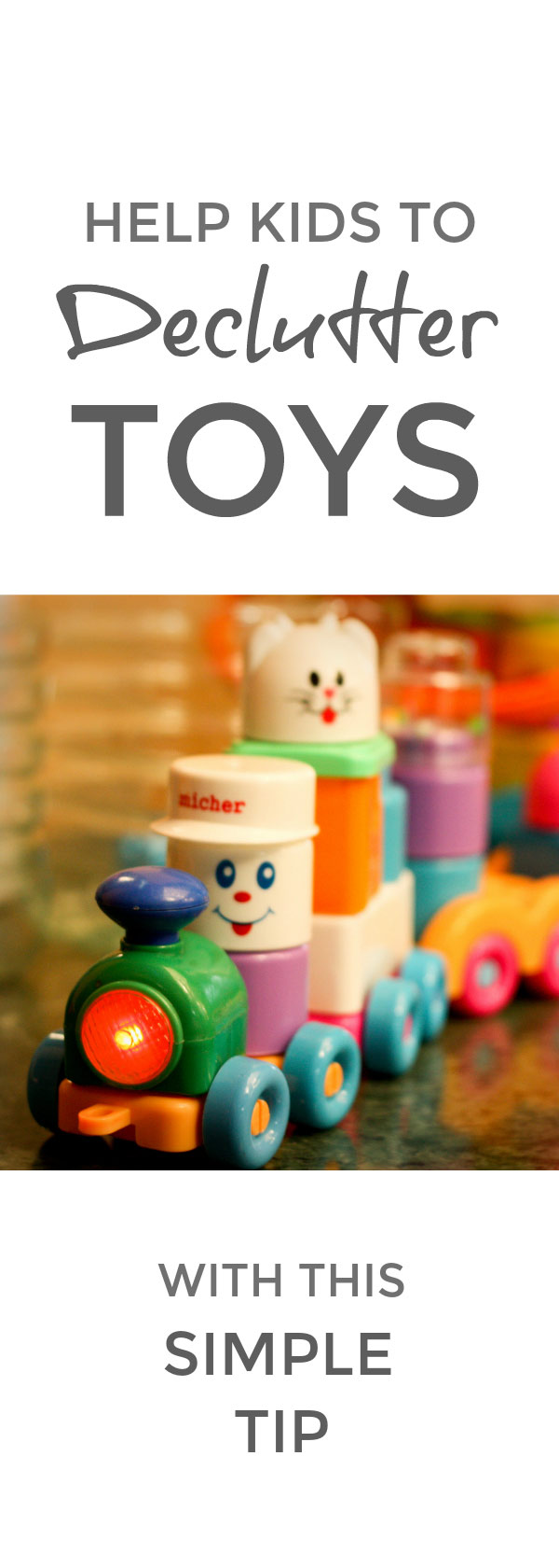 Help kids declutter their toys with this simple tip #declutter #simplify #organize