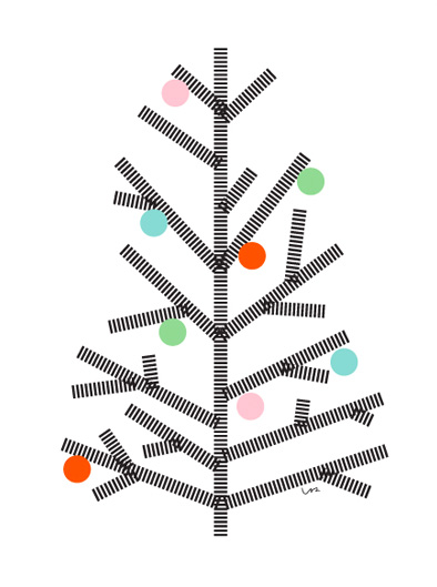Washi tape Christmas decorations - Christmas tree
