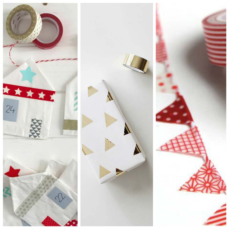Christmas decorations - traditional DIY homemade Christmas decorations for the home to make yourself and with kids. A wide range of vintage and Scandinavian inspired Christmas decoration crafts and ideas including Christmas card trees, Christmas cards plus Advent Calendars Christmas gift wrap and Christmas gift tags. All made with wash tape #christmas #christmascrafts #christmasdecorations #christmasideas