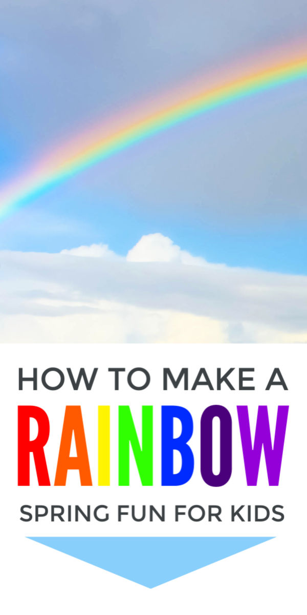 Rainbow crafts for kids - the loveliest easy spring activity to explore the colors of the rainbow. Simple enough for preschool and kindergarten but includes science of light and color for middle school children #rainbow #spring #springcrafts #stpatricksdaycrafts #springactivities #kidscrafts #eyf