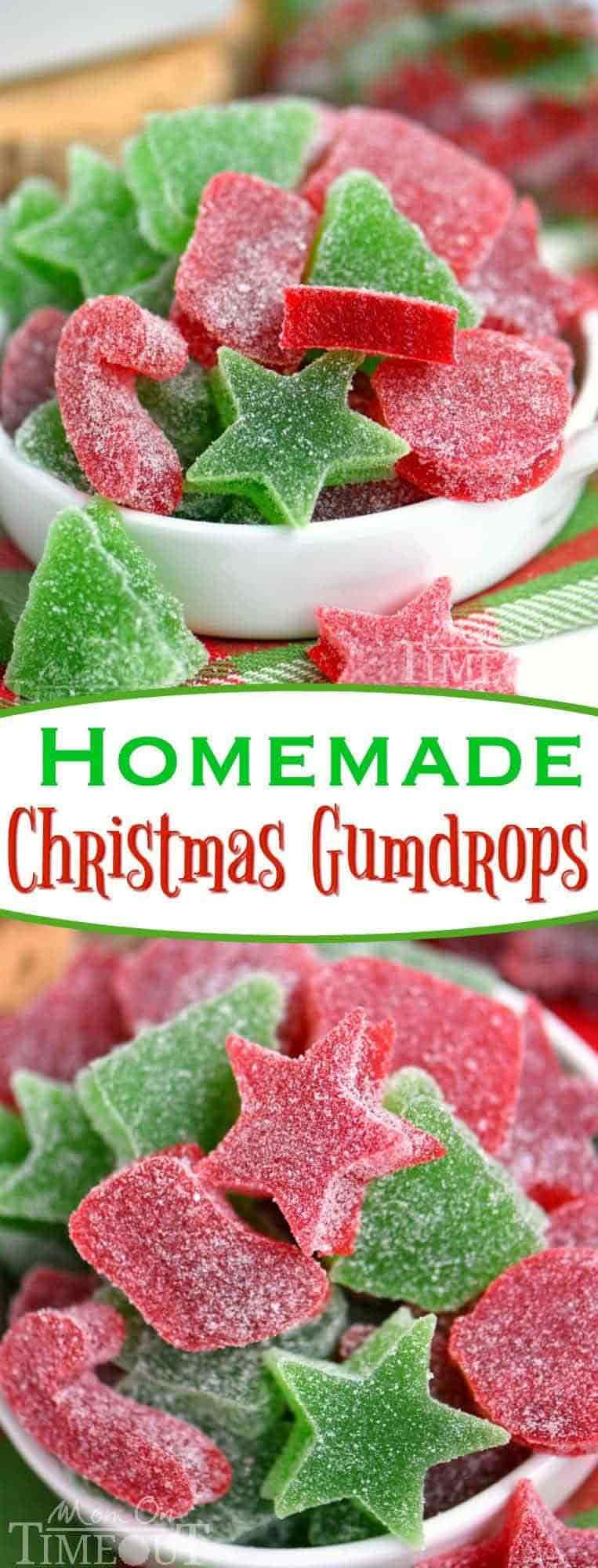 Christmas candy recipes - homemade Christmas gumdrops
