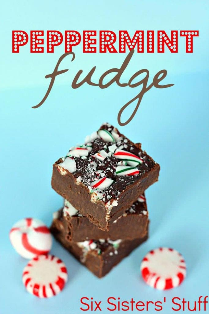 Christmas peppermint recipes - candy cane fudge