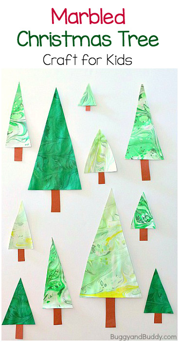 Christmas cards kids can make #christmascards #christmastree