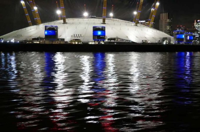 Climb the London O2 at night under the stars