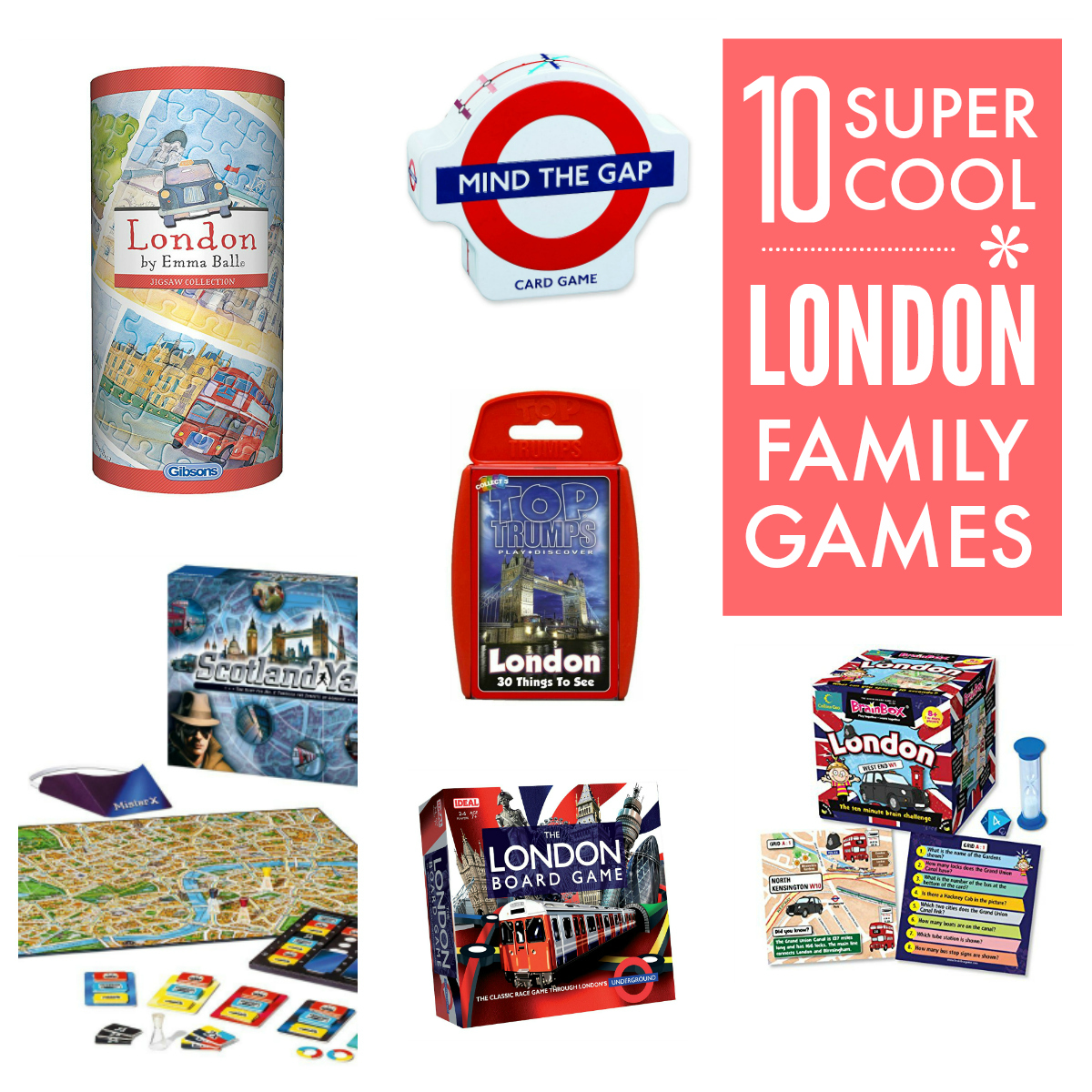 London games and puzzles for the whole family