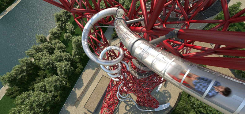 London gift for kids -  get a family ticket to descend London's 178m hell raising slide – if you