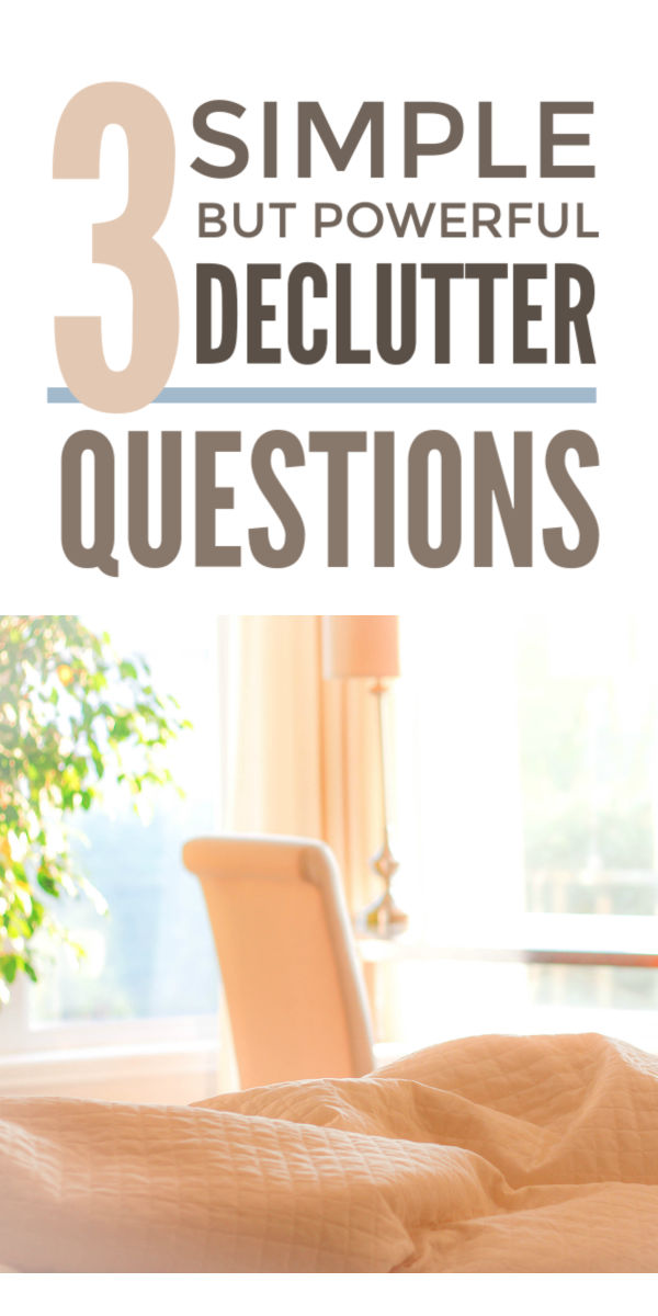 Simple declutter questions that help you declutter your home, simplify your life and enjoy a more minimalist clutter free life.  They'll help you win the clutter challenge from your bedroom and wardobe - go capsule! - to your kitchen in easy steps. #declutter #decluttering #decluttertips #simplify #simplicity #clutterfree #organize #minimalist
