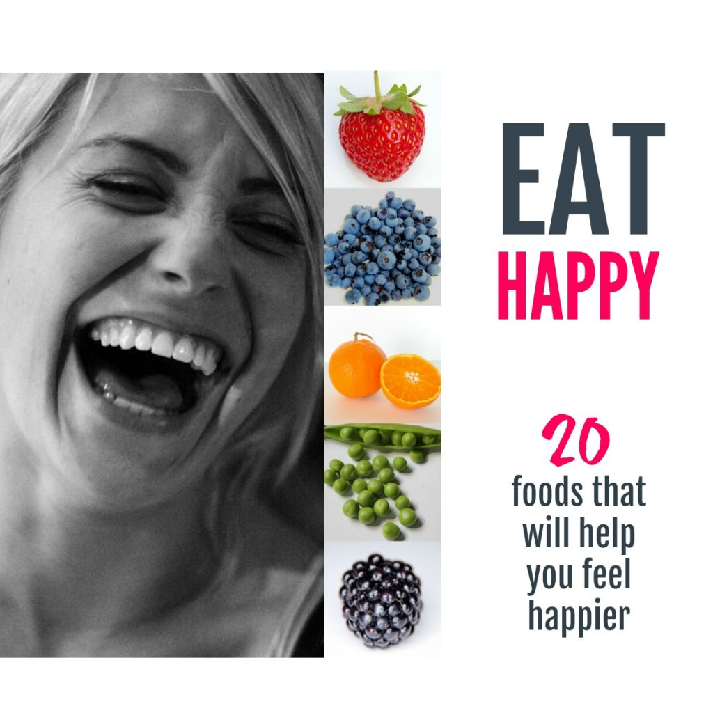 Eat happy - 20 foods that truly will help you feel happier #naturalhealth #happyfood