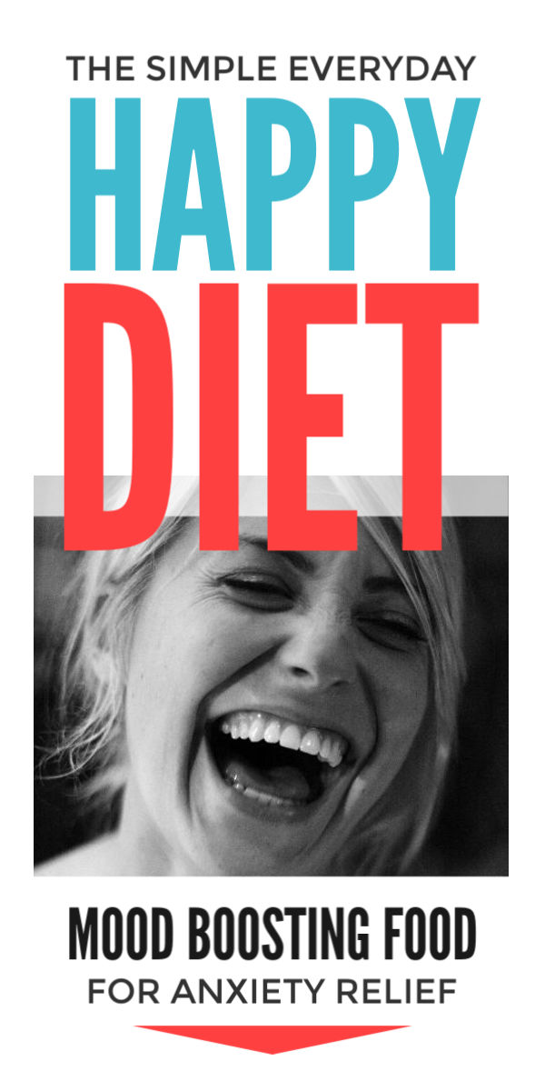 The happiness diet plan - eat yourself happier again, boost your mood & energy & ease anxiety with simple everyday food rich in serotonin & essential vitamins. Without fancy recipes these healthy nutrient rich snacks will nurture your body, help you feel happy naturally & relieve stress & panic attacks #happy #happier #happiness #diet #healthydiet #healthyfood #healthyeating #anxiety #anxietyrelief #serotonin #stress #naturalhealth #healthydiettips #dietplan #mentalhealth